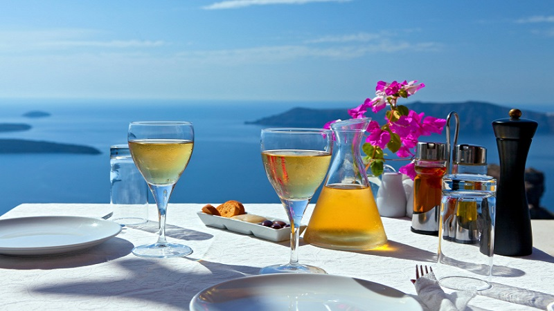 Table above sea for two.