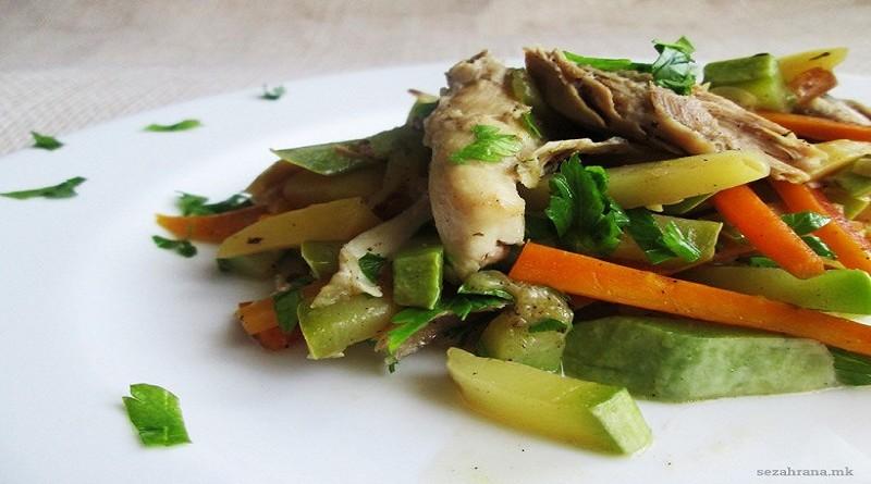 пилешко-со-зеленчук-во-сос-од-вино