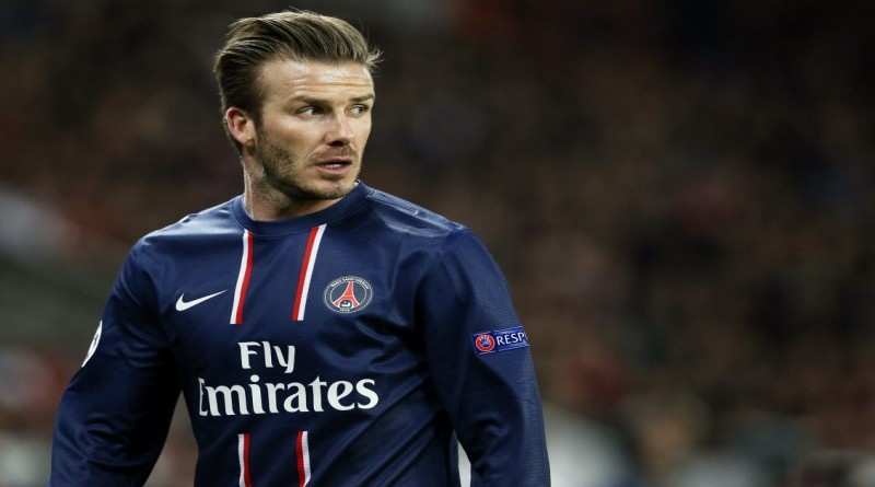 Paris Saint-Germain's English midfielder David Beckham looks on during the Champions League quarter-final football match between PSG and Barcelona at the Parc des Princes stadium in Paris on April 2, 2013.    AFP PHOTO / KENZO TRIBOUILLARDKENZO TRIBOUILLARD/AFP/Getty Images