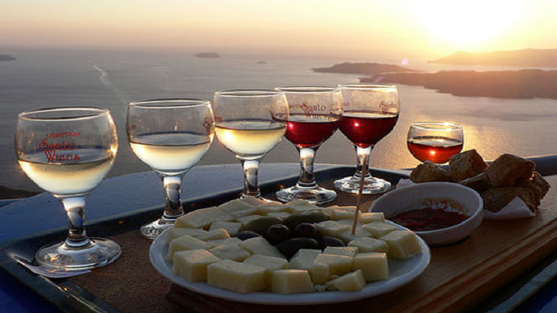 Greek-wine-and-view